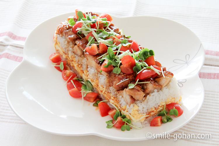 カラフル押し寿司